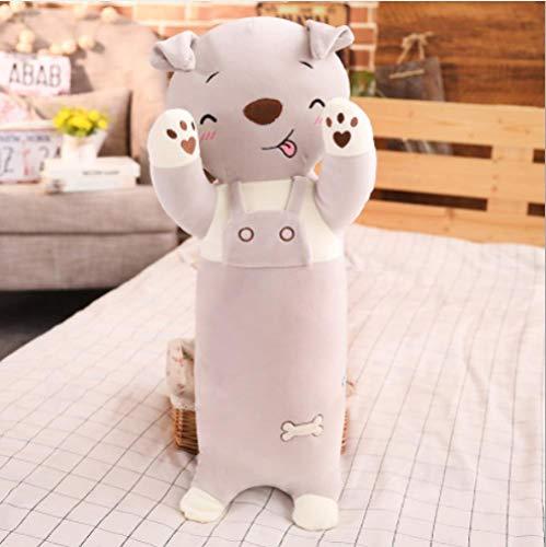 WGOO Pillow Weiche Plüschtier Dichtung Spielzeug Tier Plüsch Kissen für Kinder,Cartoon Streifen Weichen Tier Sofakissen,Plüschkissen Für Kinder,Windhund,70CM -