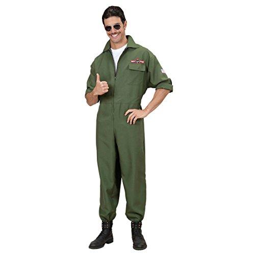 Kostüm Jet Pilot Fliegerkostüm Fliegeranzug Pilot Piloten Flieger Pilotenkostüm Pilotenanzug Fasching Karneval XL 54/56