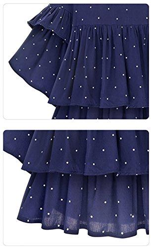 FIVE CATS Oversize Damen Chiffon Bluse Zweilagig Mit Top Fledermausärmel und Polka Dot-Design EU44-52 -