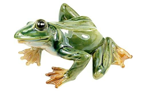 Udo Schmidt Gartenfigur Frosch 29 cm Porzellan glasiert Figur Garten Frog -