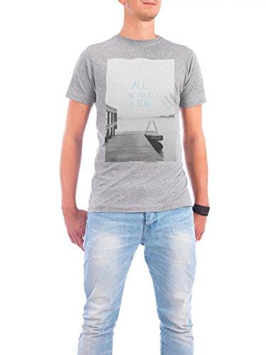 """Design T-Shirt Männer Continental Cotton """"all we have blau"""" - stylisches Shirt Typografie von Anna Tverdostup Grau"""