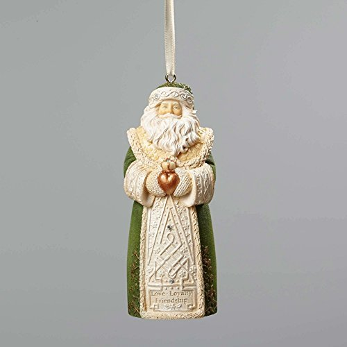 stmas Irish Santa Ornament 4.25 In by Enesco (Irish Christmas Ornamente)