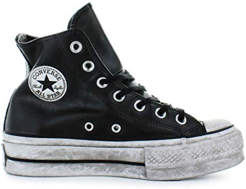 Converse Chaussures Femme Baskets Baskets Femme All Star Platform Cuir Noir Femme Automne-Hiver 2019B07HQXY8V6Parent 589349