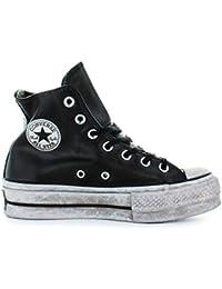 8d94e012ae7 Zapatos de Mujer Zapatilla Converse All Star Platform Cuero Negro Mujer  Otoño Invierno 2019