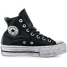 3569adc1f Zapatos de Mujer Zapatilla Converse All Star Platform Cuero Negro Mujer  Otoño Invierno 2019