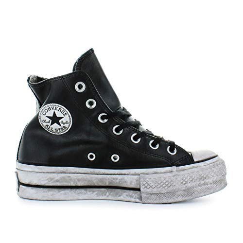 ffec732870e3 Zapatos de Mujer Zapatilla Converse All Star Platform Cuero Negro Mujer  Otoño Invierno 2019