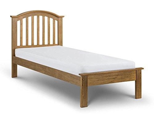Happy Beds Olivia Bed Wooden Oak Frame 3' Single 90 x 190 cm