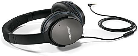 Bose QuietComfort QC25 Over Ear Headphone Acoustic Noise Cancelling For Apple Devices - Black