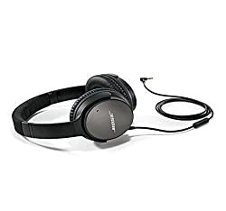 Bose QuietComfort 25, Acoustic Noise Canceling - Earphones for Apple Devices, Black (Wired with 3,5-mm Plug)