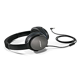 Bose QuietComfort 25 Acoustic Noise Cancelling Kopfhörer (geeignet für Apple-Geräte) schwarz (B00M1NEUKK) | Amazon price tracker / tracking, Amazon price history charts, Amazon price watches, Amazon price drop alerts