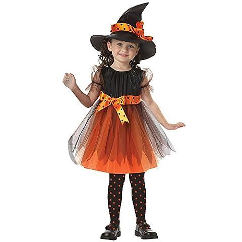Oyedens Kinder MäDchen Halloween Hexe Kleider + Hut FüR KostüM Party (110, Gelb)