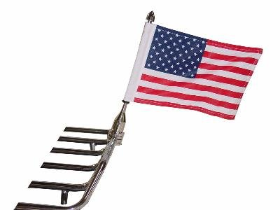 Pro Pad Solid 1/2 Tour Pack Flag Mount With 6 X 9 Flag for Harley -