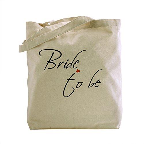 ElegantPark Bride-to-be Natur Segeltuch 100% Baumwolltasche Beutel mittlere Hochzeits Bevorzugungs Geschenk Beutel Handtasche