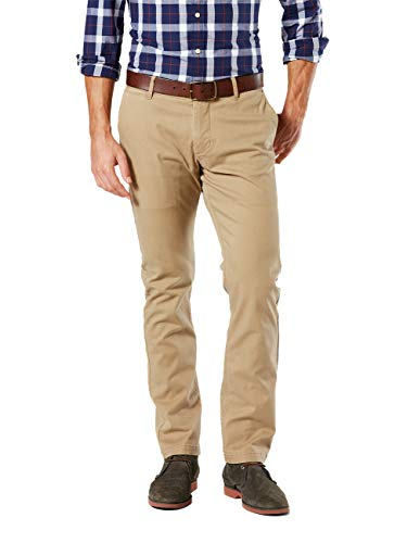 Chino-twill-khaki (Dockers Herren Washed Khaki Slim Tapered - Stretch Twill Hose, Braun (New British 0001), W38/L36)