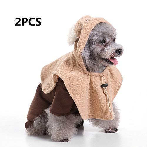 Monster Kostüm Katze - FZXPET Haustier Hund Kleidung Für Kleine Hunde, Winter Weihnachten Halloween Kleider, Warme Katze Mantel, Lustiges Kostüm, Monster Anzug,B,M