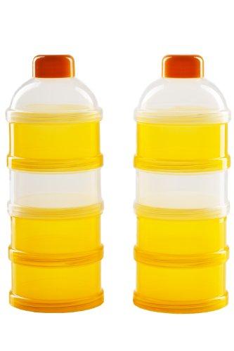 DOPPELPACK Milchpulver-Portionierer für 2 x 4 Portionen