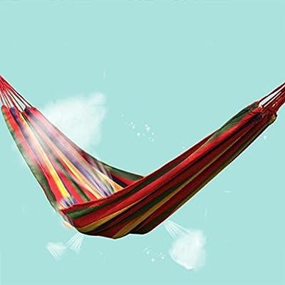 DS Hängematte Stripe Hängematte Outdoor 2 Personen Tragbare Camping Tourismus 200 × 150 cm 2 Farbe Optional ** von Dong Sheng shop auf Gartenmöbel von Du und Dein Garten