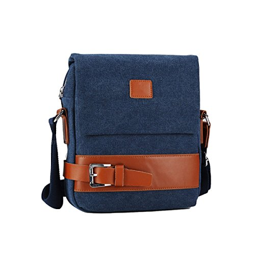 Umhängetasche Der Männer Taschen Weiche Beutel-beiläufige Art- Und Weisekleiner Rucksack Blue