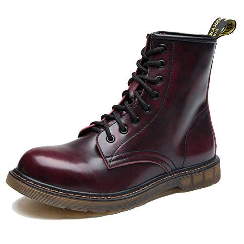 Botas de hombre Botas de trabajo Zapatillas deportivas ligeras impermeables Botas Martin,Red-41