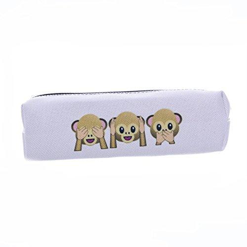 Smallbox Smiley cute Monkey crayon stylo étui sac avec fermeture éclair pour les filles, les enfants, école papeterie fournitures de bureau