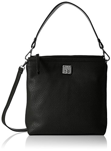 Fiorelli Damen Beaumont Tornistertasche, Schwarz (Black Casual Mix), 10x28x29 cm -