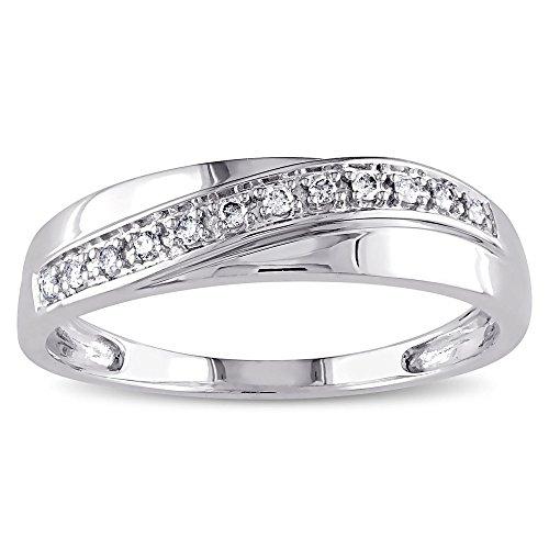 Forever Diamonds - 14 Kt 14 Karat Weißgold Rund Leicht Getöntes Weiß/Crystal (J) Diamant - Forever Diamond