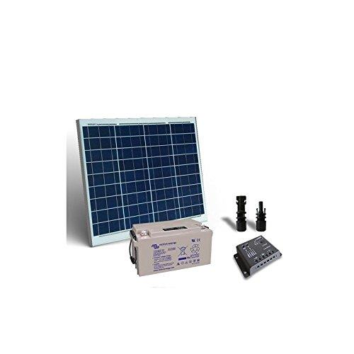PuntoEnergia Italia - Kit Solare Pro 50W 12V Pannello Fotovoltaico Regolatore 5A PWM Batteria 22Ah 12V - KSP-50-12-B22