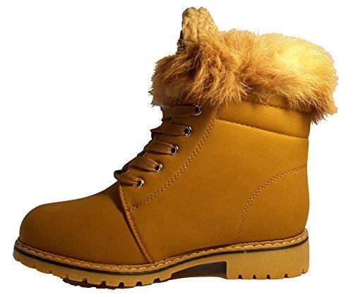 Bottes hiver demi-hautes très chaudes avec de la fourrure extérieure, chaussures femme, modèle 11104112001067, beige, différents modèles et tailles. Beige.