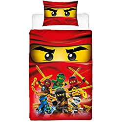 wholesale dealer bc2c7 d1614 Lego Ninjago collettivo Design Copripiumino Singolo  , Reversibile con Due  Lati Master Builder Llyod,