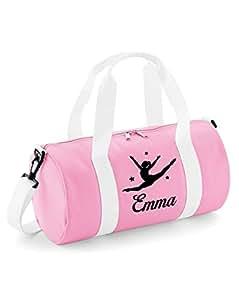 Sac de gymnastique motif grand écart - Personnalisable - Pour femme et enfant (fille) N/A Baby Pink & White / Black Print