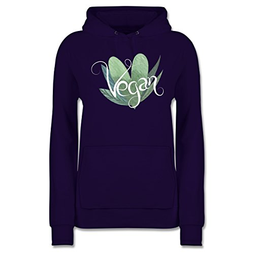 Statement Shirts - Vegan Lettering - M - Lila - JH001F - Damen Hoodie -