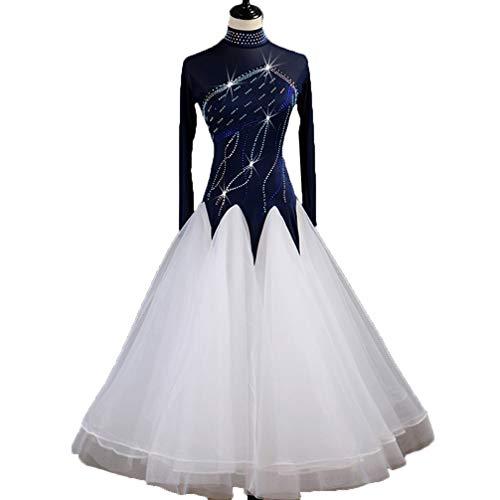 Frauen Standard Ballsaal Wettbewerb Kleider Königsblau Kostüme Für -