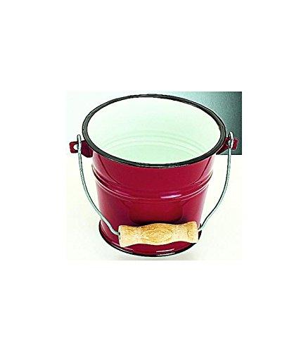 Ibili 911522 Seau rouge en acier émaillé vitrifié 5,5 l