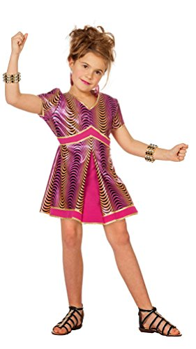 Karneval-Klamotten Disco Kleid Kostüm Rockstar Mädchen-Kostüm Popstar Mädchen Kinder-Kostüm Sängerin Musikerin Bling Show Party 70erJahre Mädchenkostüm Größe 140
