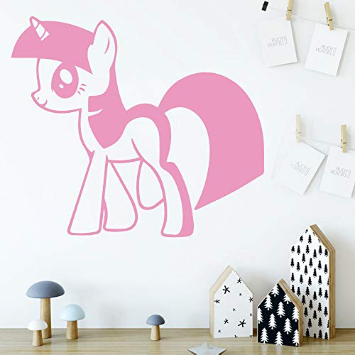 BailongXiao Niedlicher Anime Tier Vinyl Wandaufkleber für Kinderzimmer Dekoration Wanddekoration Hintergrund Wandkunst Aufkleber 54x61cm