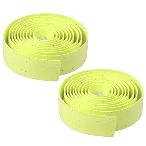 IMIKEYA Lenkerband Wickeln Rennrad tragbare Band rutschfeste Gürtel Fahrrad Lenkerband für den Außenbereich (hellgrün)