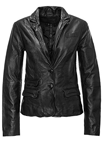 Freaky Nation Damen Lederjacke Easy-Going FN19189 Col. Black L