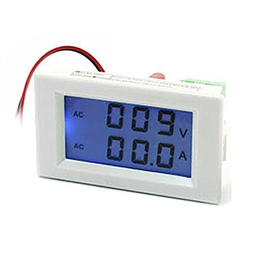 Aexit AC 80–300V 100Amp Typ LED Digital Display Blau Ammeter Voltmeter (100 Volt Amp)
