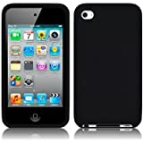 APPLE IPOD TOUCH 4TH GENERATION SOFT SILICONE SKIN CASE - BLACK PART OF THE QUBITS ACCESSORIES RANGE