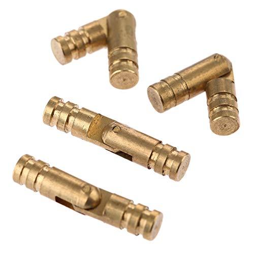 ASDJLK Hardware 4 piezas de bisagras de latón de cobre puro para...