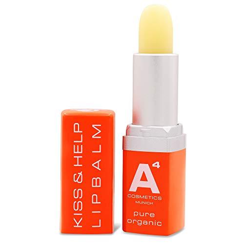 A4 - KISS & HELP LIPBALM | Lippenpflege | Lippenbalm (Lippenstift) | Feuchtigkeitspflege (4g) -