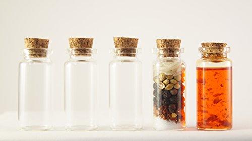tück Mini-Glasflaschen/Mini Glasbehälter/Container / Reagenzgläser/Flaschen | mit Korken | 12ml (50mm x 22mm) (Mini-container)