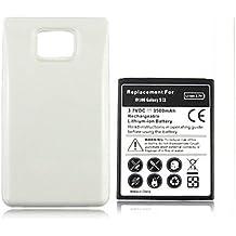 SMARTEX | Batteria maggiorata marca Smartex compatibile con Galaxy S2 / capacità 3500mAh / + cover Bianca compatibile con i9100