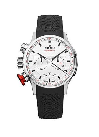 Edox Montre bracelet Mixte Edox Rally Instrument Chrono Rally Chronographe Quartz Caoutchouc 103023AIN