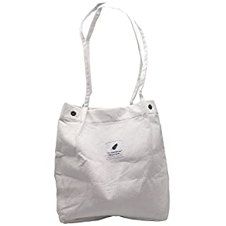 Fashion Casual Style Lady Handbag Cotton Canvas Shoulder Bag Dual-use Bag Travel Tote Bag Beach Bag Shoulder Bag Holiday Shopping Bag Shopping Bags For Women Girls Students,Aixin (White)