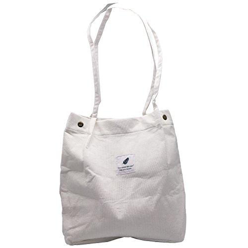 (Fashion Casual Style Lady Handtasche Baumwolle Leinwand Umhängetasche Dual-Use-Tasche Travel Tote Bag Strandtasche Schultertasche Holiday Shopping Bag Einkaufstaschen für Frauen Mädchen (Weiß))
