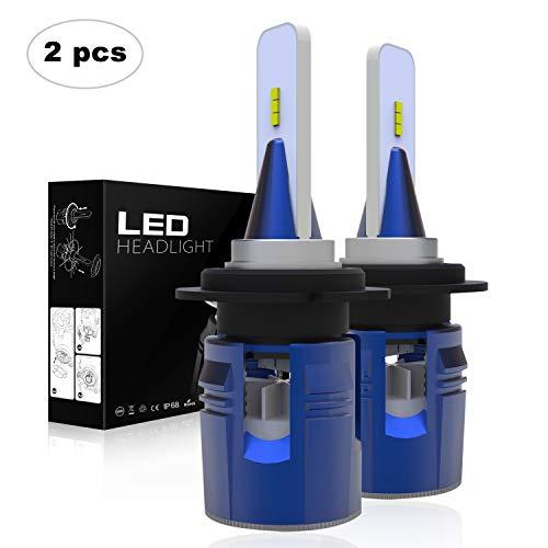 AAIWA Lampadine LED H7, LED Faro dell'automobile LED Auto Lampade Faro 60W 7200LM 6500K Bianco Kit di conversione, 2Anni di Garanz