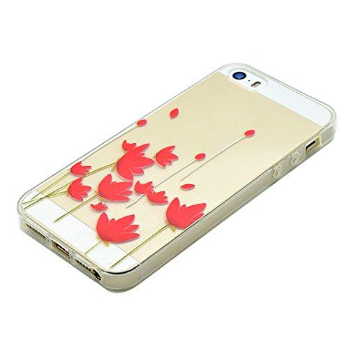 Schutzhülle iPhone 7 Plus 5.5 Zoll Case, iPhone 7 Plus Handyhüllen, iPhone 7plus Silikon Cover, Moon mood® Soft Schutzhülle für Apple iPhone 7 Plus Ultra Thin Dünn Weiche TPU Schutz Etui Cover, iPhone 1-Safflower