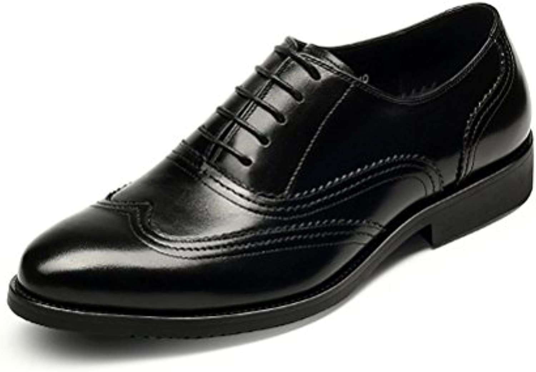 DHFUD Zapatos De Cuero De Primavera para Hombres Zapatos De Boda De Mañana Informal