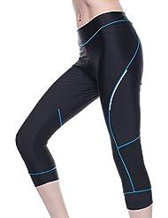 4ucycling femmes Pantalons Pantalon de cyclisme Vélo 3D rembourré Pantalon de cyclisme 3/4 Collant